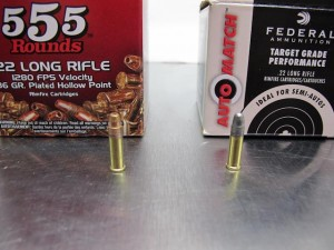 Bullet nose profile comparison Federal and Winchester
