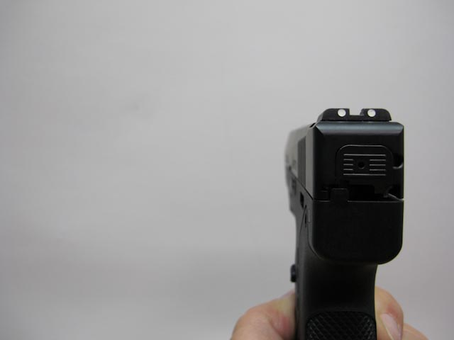 Beretta Nano rear left side of pistol view showing the clean lines